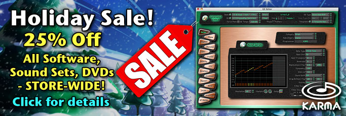 Korg Forums :: View topic - 2014 Holiday Sale - $ave on KARMA Kronos